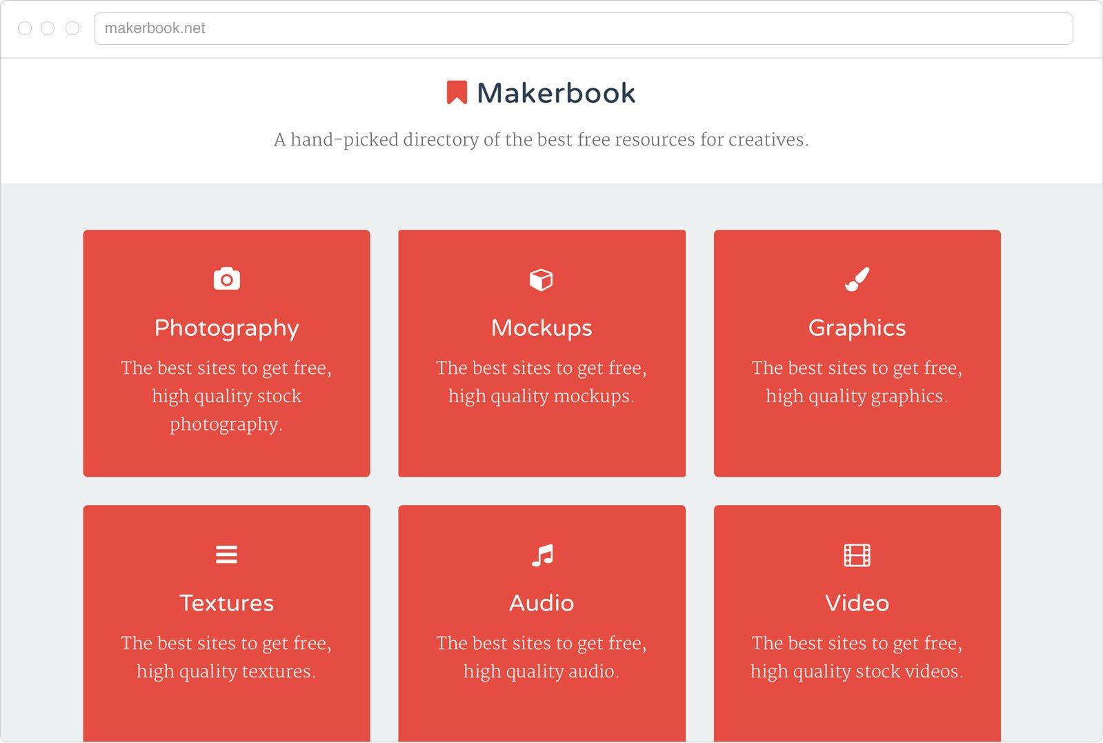 Makerbook wesbite design