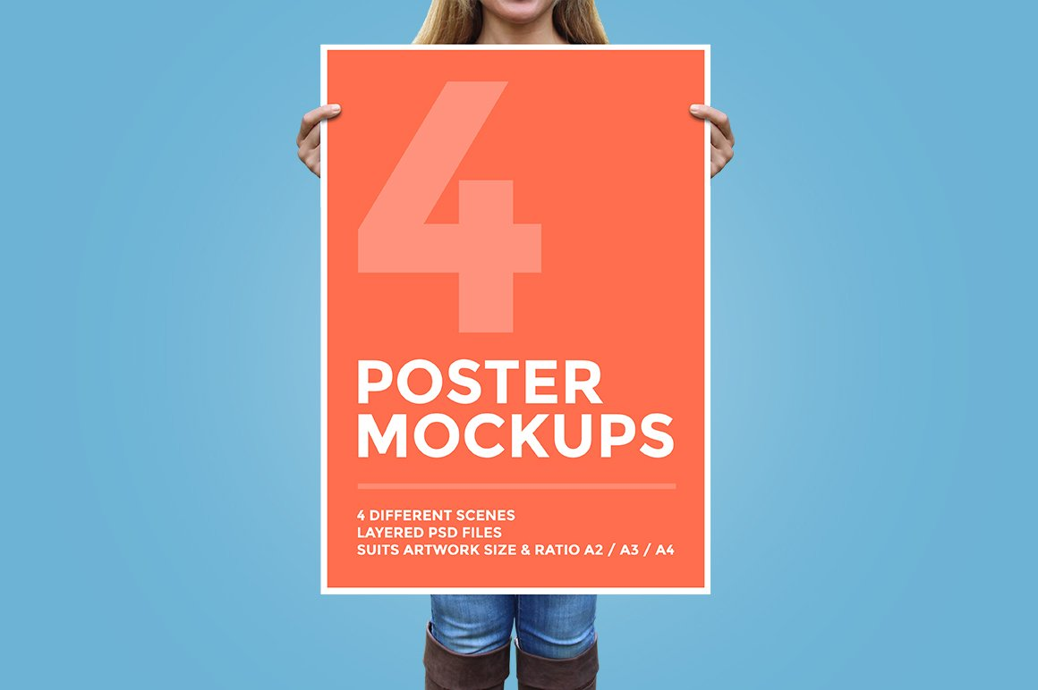 poster mockup psd download
